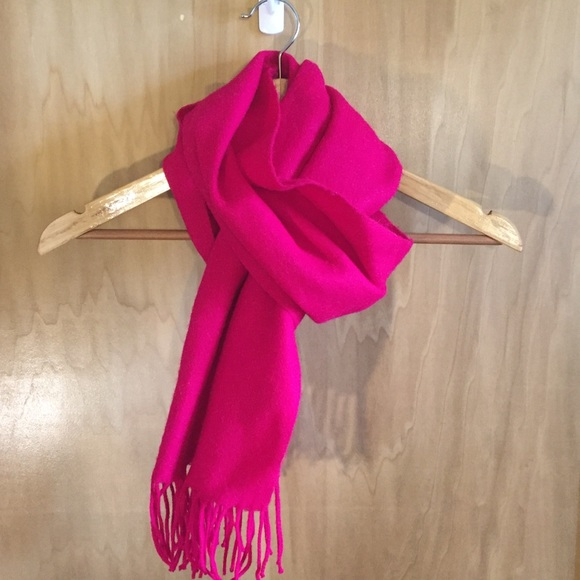 Gorgeous Electric Pink Scarf with Fringe
